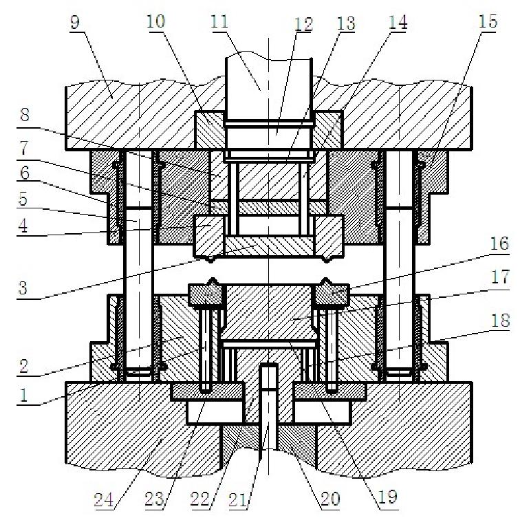 Structure diagram of fine blanking die
